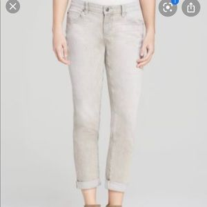 Eileen Fisher Grey Organic Cotton Jeans Size 6